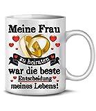 Golebros Meine Frau zu heiraten 6374 Tasse Becher Kaffee Pärchen Partner Geburtstagstag Hochzeitstag Jahrestag Paare Ehefrau für Sie Kaffeebecher kaffeetasse