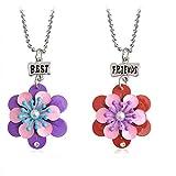 GMQHD Blumen-Anhänger BFF Best Friend Forever Halskette für 2 Mädchen Jungen Freundschaftszubehör Geschenke