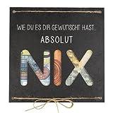 Geldgeschenk als Grußkarte NIX - Nichts gewünscht für Geburtstag Reisen Urlaub Hochzeit - originelle Idee, individuelles Geschenk - besonders verschenken