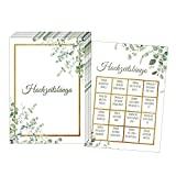 50 Karten Hochzeitsbingo, Witziges Hochzeitsspiel für Gäste, Hochzeitsspiele für Gäste, Hochzeitsgeschenk, Hochzeitsdekoration (Grün Gold)