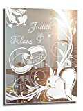 Motivspiegel Ehe 1 ★ Geschenk zur Hochzeit ★ Wedding ★ personalisiert (45x60cm)